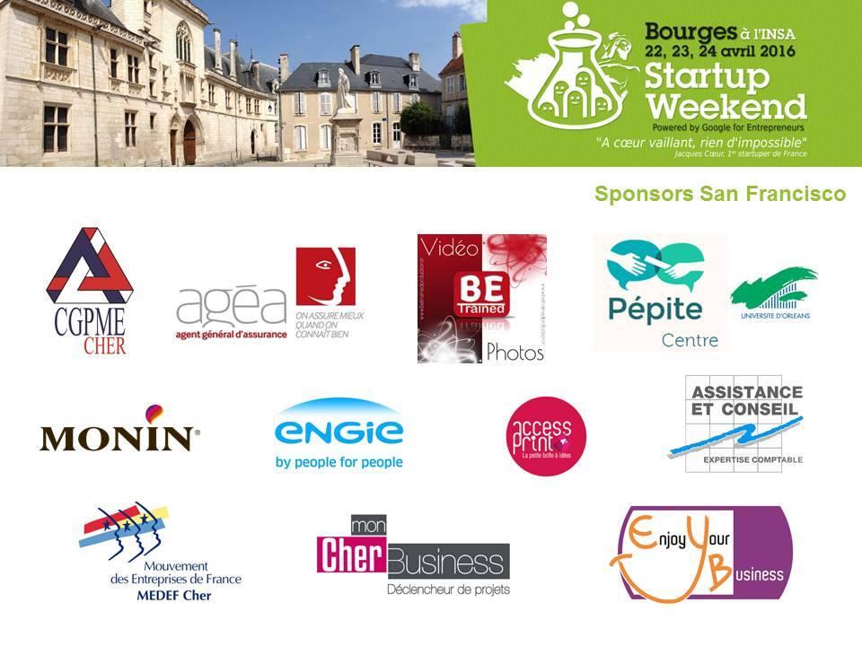 Partenaires du 1er Startup week end de Bourges